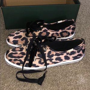 Kate spade satin cheetah print keds 7